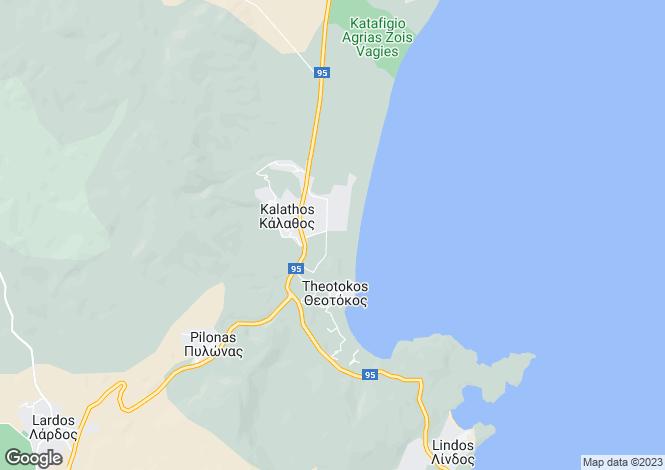 Map for , Kalathos, Greece