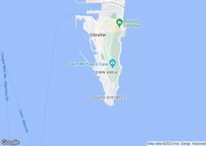 Map for South District, Gibraltar, Gibraltar
