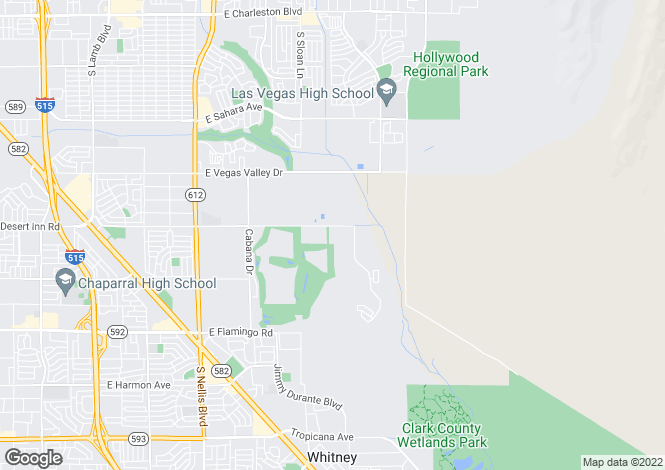 Map for USA - Nevada, Clark County, Las Vegas