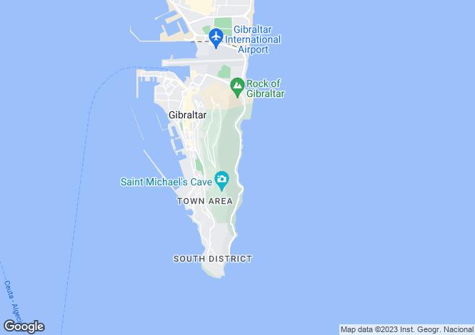 Map for Gibraltar