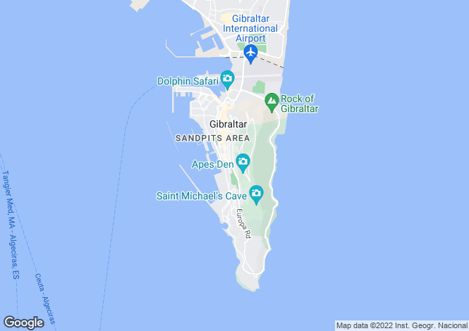Map for Rock Gardens, Gibraltar