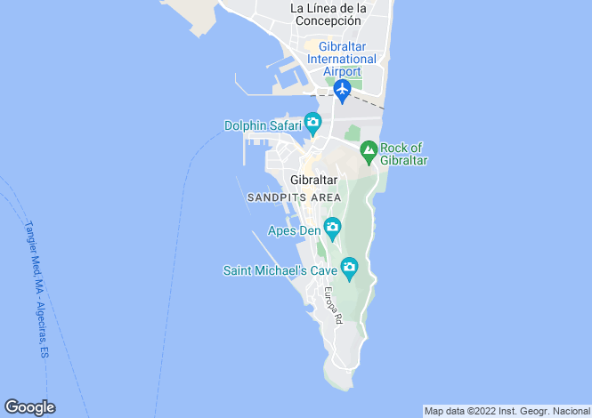 Map for Queensway Quay, Gibraltar