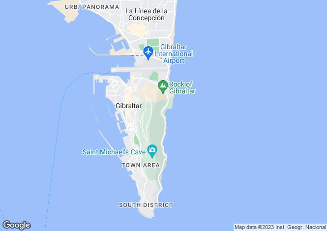 Map for Little Genoa, Gibraltar
