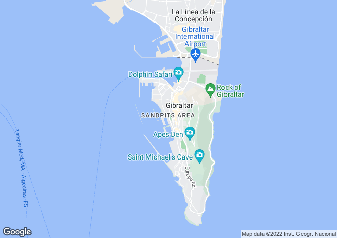Map for Kings Wharf, Gibraltar, Gibraltar