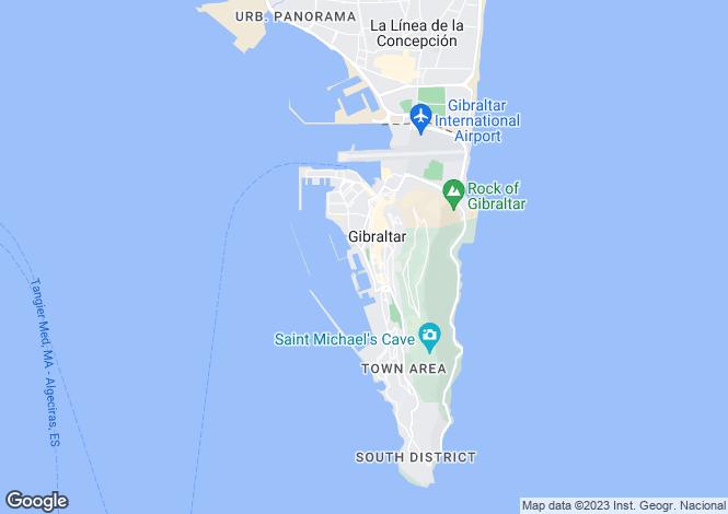 Map for Kings Wharf, Gibraltar