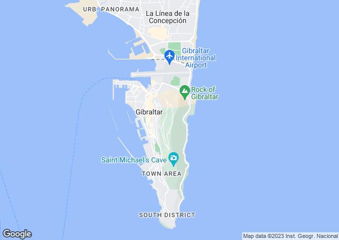 Map for EurocIty, GIbraltar, Gibraltar