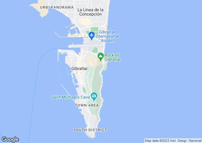 Map for Catalan Bay, Gibraltar