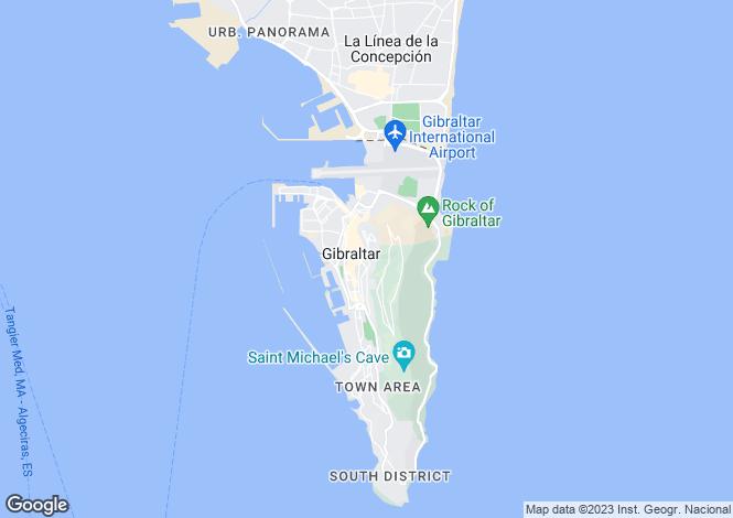 Map for Upper, Gibraltar, Gibraltar