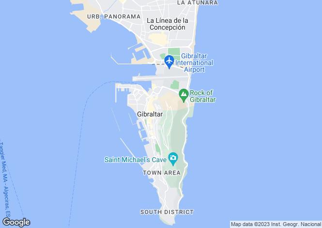 Map for Upper Town, Gibraltar