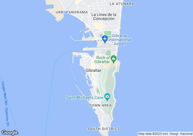 Map for Castle Street, Gibraltar
