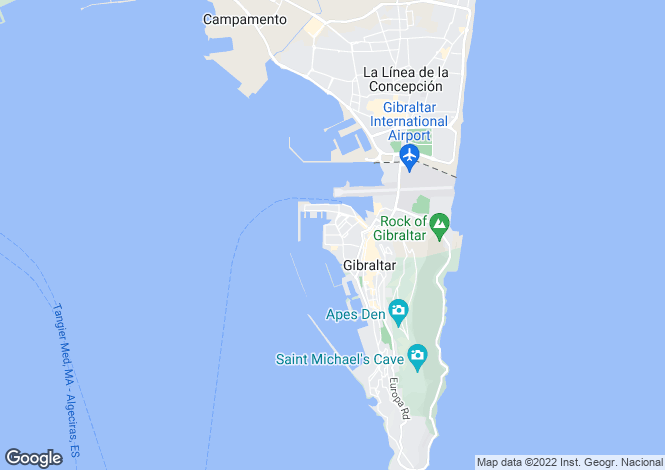 Map for Westside, Gibraltar, Gibraltar