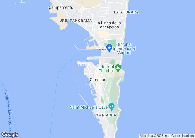 Map for Gibraltar, Gibraltar, Gibraltar