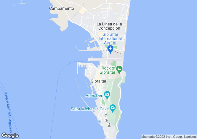 Map for Ocean Village Marina, Gibraltar