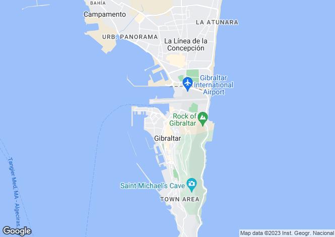 Map for Ocean Village Marina, Gibraltar