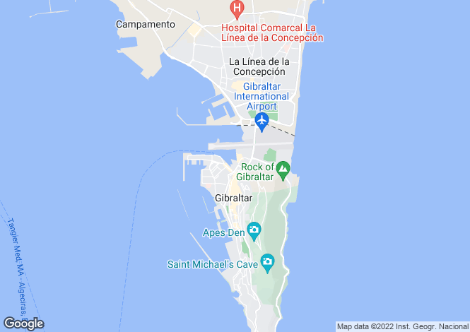 Map for Tradewinds, Gibraltar