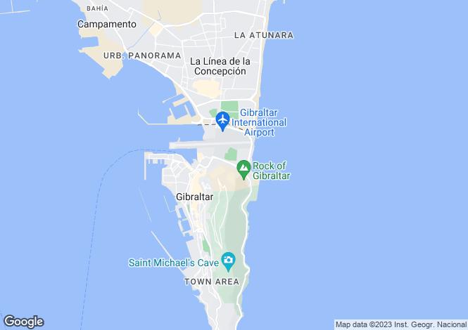 Map for East Side, Gibraltar, Gibraltar