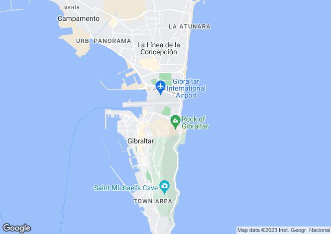 Map for East Side, Gibraltar
