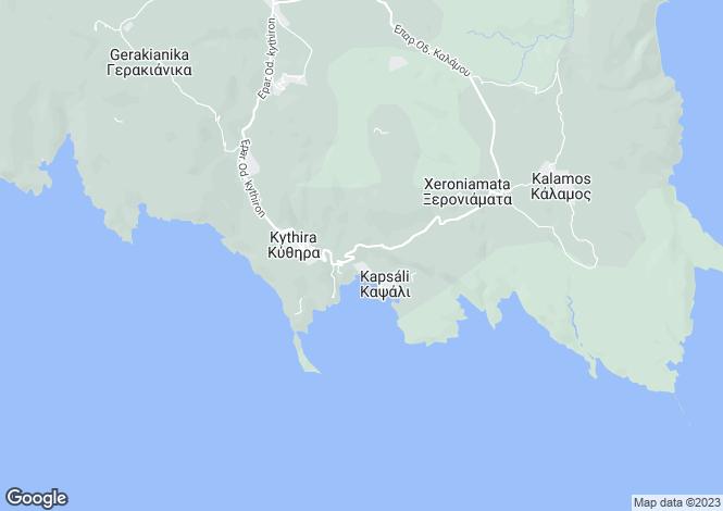 Map for Attica, Kythira
