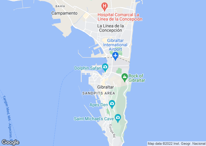 Map for Ocean VIllage, GIbraltar, Gibraltar