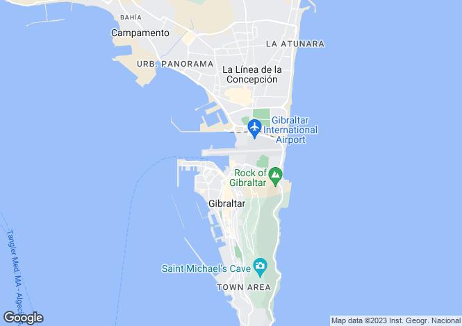 Map for Marina Bay, Gibraltar, Gibraltar