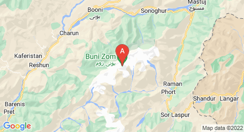map of Buni Zom (Pakistan)