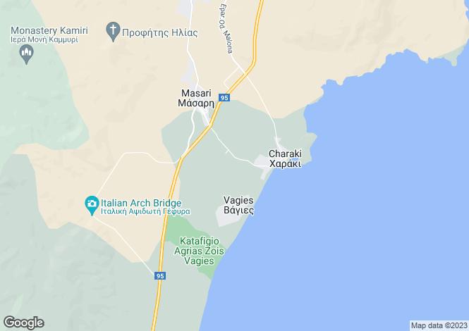 Map for Haraki, Rhodes, Dodecanese islands