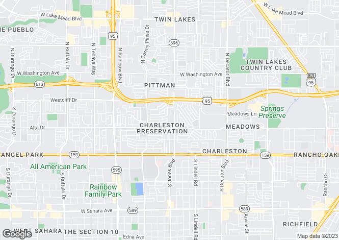 Map for USA - Nevada, Clark County, Las Vegas