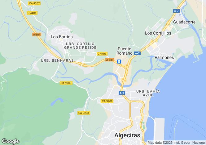 Map for Algeciras, Cádiz, Andalusia