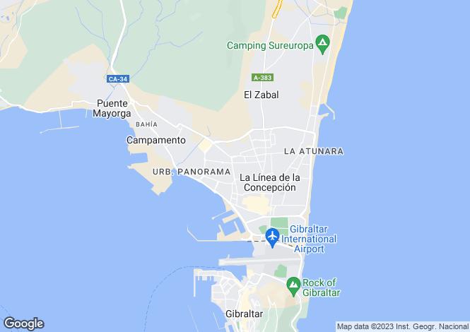 Map for La Línea de la Concepción, Cádiz, Andalusia
