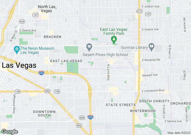 Map for Nevada, Clark County, Las Vegas