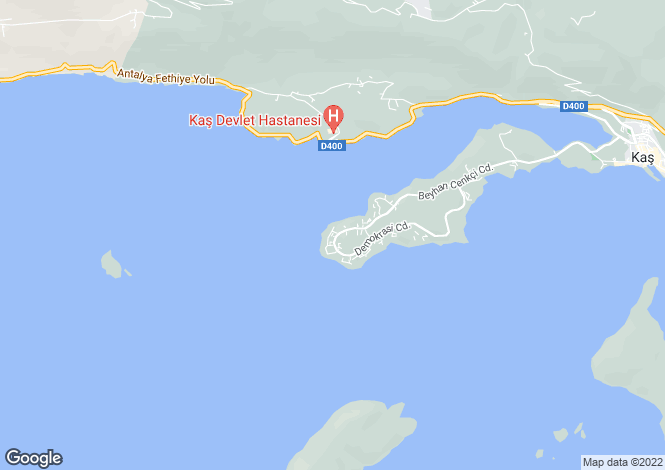 Map for Antalya, Kas, Kas