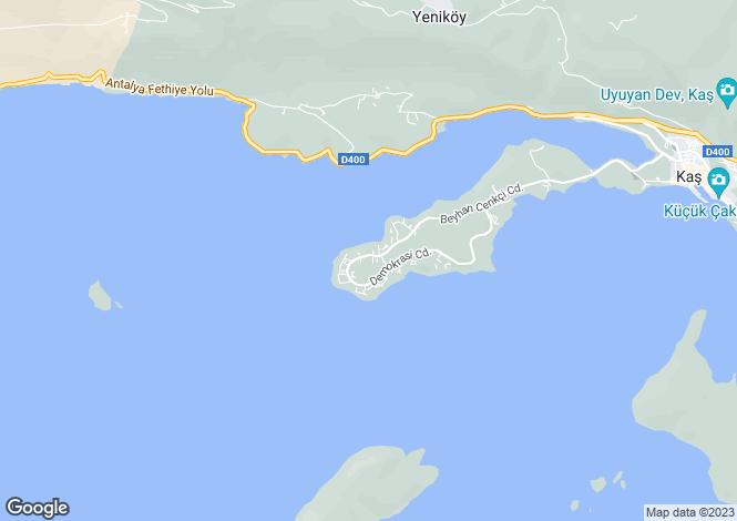 Map for Kas, Kas, Antalya