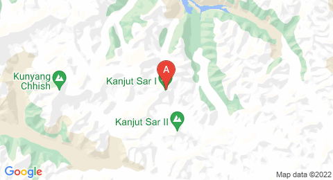 map of Kanjut Sar (Pakistan)