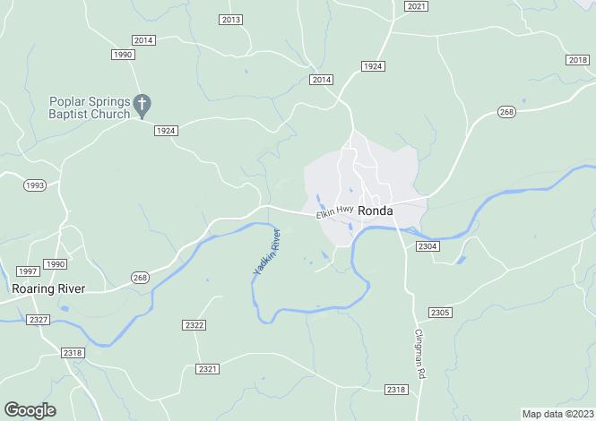 Map for USA - North Carolina, Wilkes County, Ronda