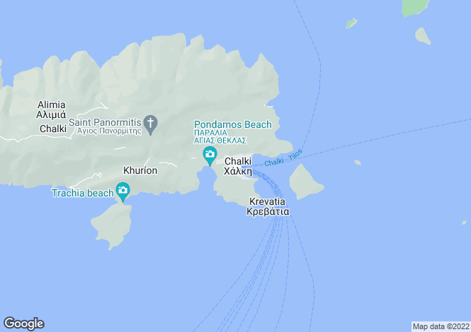 Map for Chalki, Chalki, Dodecanese islands