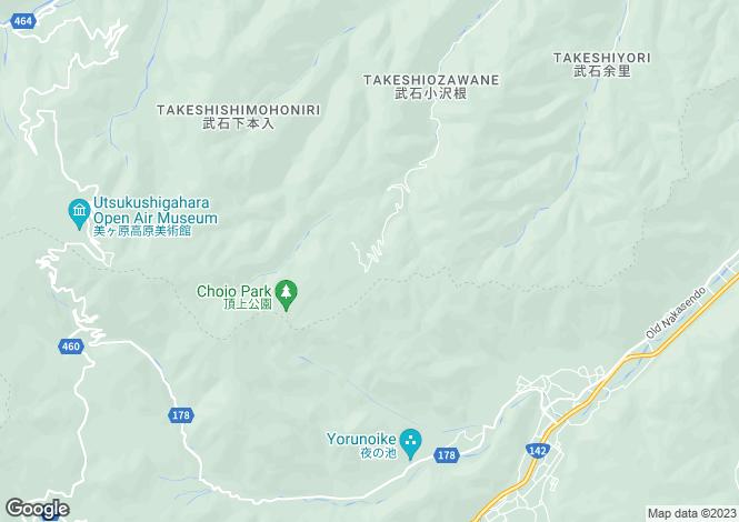 Map for Nagano