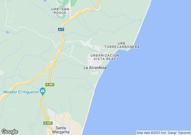 Map for Andalusia, Cádiz, La Alcaidesa
