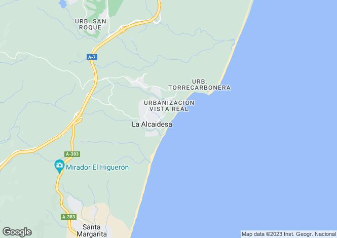 Map for Alcaidesa, Cadiz, Andalucía