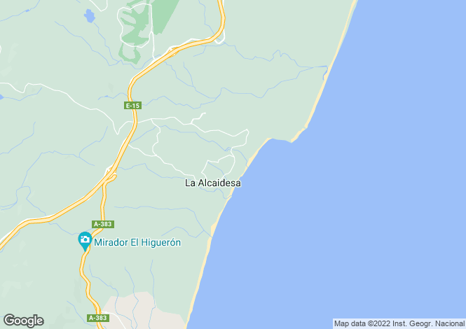 Map for Spain - Andalucia, Cádiz, La Alcaidesa
