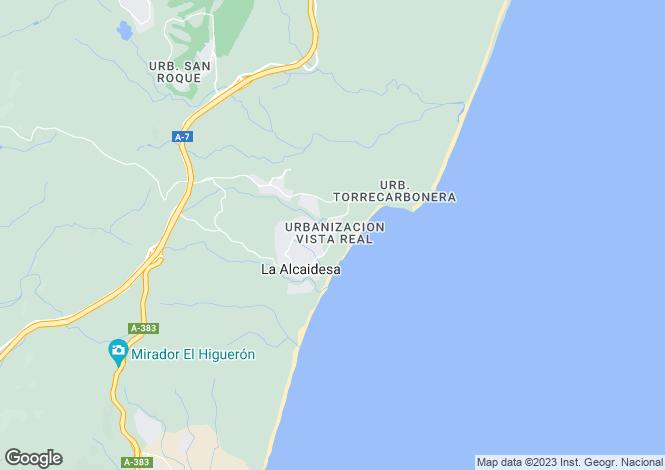 Map for Alcaidesa, Cádiz, Andalusia