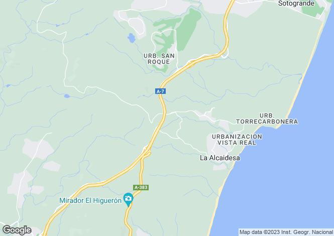 Map for Sotogrande Alto, Sotogrande, Andalucía