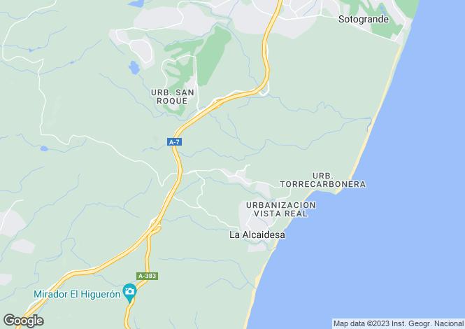 Map for Andalusia, Cádiz, Alcaidesa