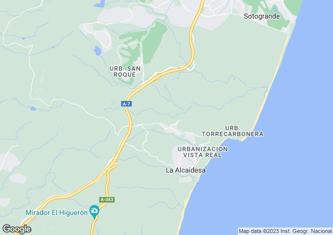 Map for Andalucia, Cádiz, Alcaidesa