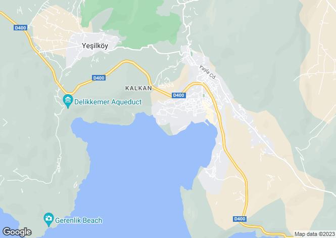 Map for Kalkan, Antalya,  Turkey