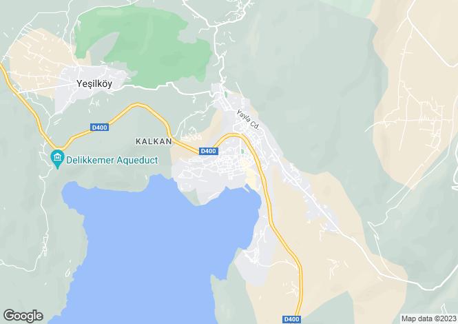 Map for Kalkan, Kas, Antalya