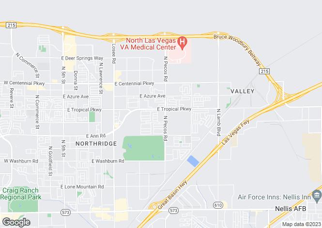 Map for USA - Nevada, Clark County, North Las Vegas