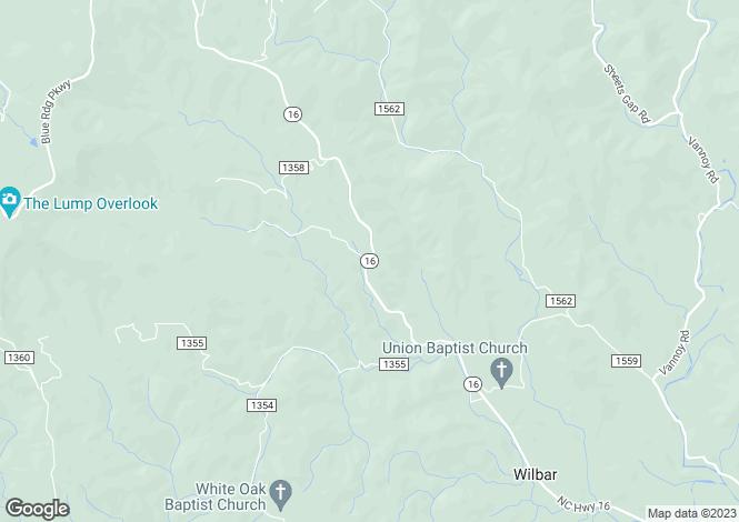 Map for USA - Kentucky, Estill County, Millers Creek
