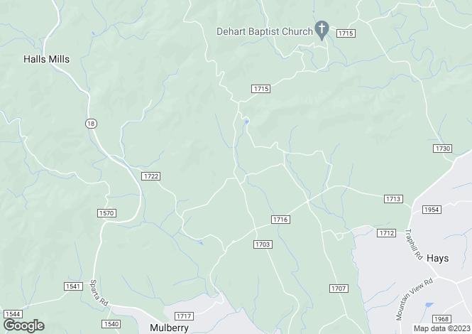 Map for USA - North Carolina