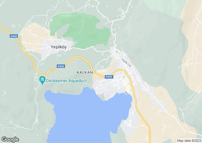 Map for Antalya, Kas, Kalkan