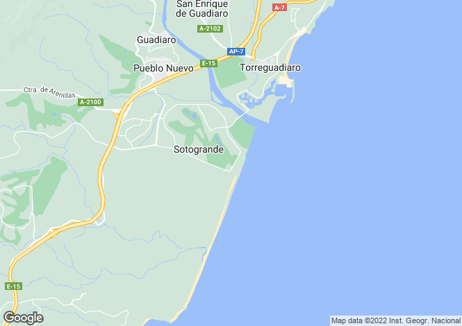 Map for Sotogrande Costa B Area, Sotogrande, Andalucia